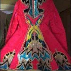 Custom made Irish dance dress made in Ireland